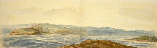 Sophia Campbell's 1818 Panorama from Nobbys