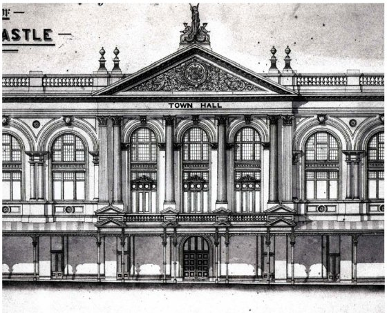 Plan for Newcastle Town Hall Building