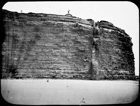 Glass negative from Government Geologist showing south eastern tunnel entrance