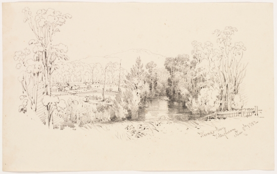 54. Kerua River, Tilligherry, 8th May 1852