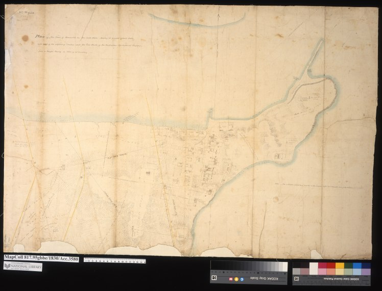 Plan of the Town of Newcastle New South Wales shewing it's present actual state with part of the adjoining Country, and the coal works of The Australian Agricultural Company from a Careful Survey in 1830 by Jno. Armstrong. (Courtesy of the Alexander Turnbull Library, Wellington, N.Z.)