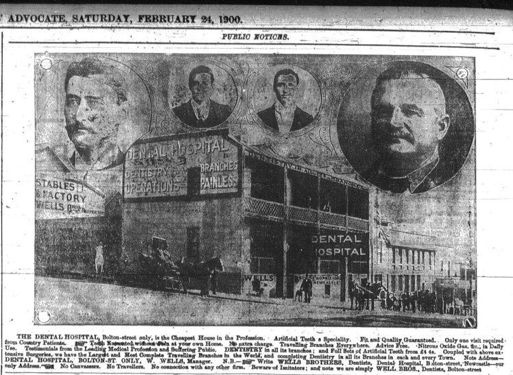 The Wells' Dental Hospital in Bolton Street. NMHMA 24th February 1900