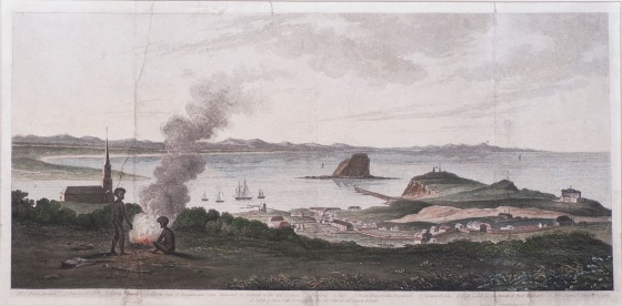 Joseph Cross - A view of King's Town. (1828) (Photograph by Bruce Turnbull. Courtesy Newcastle Art Gallery