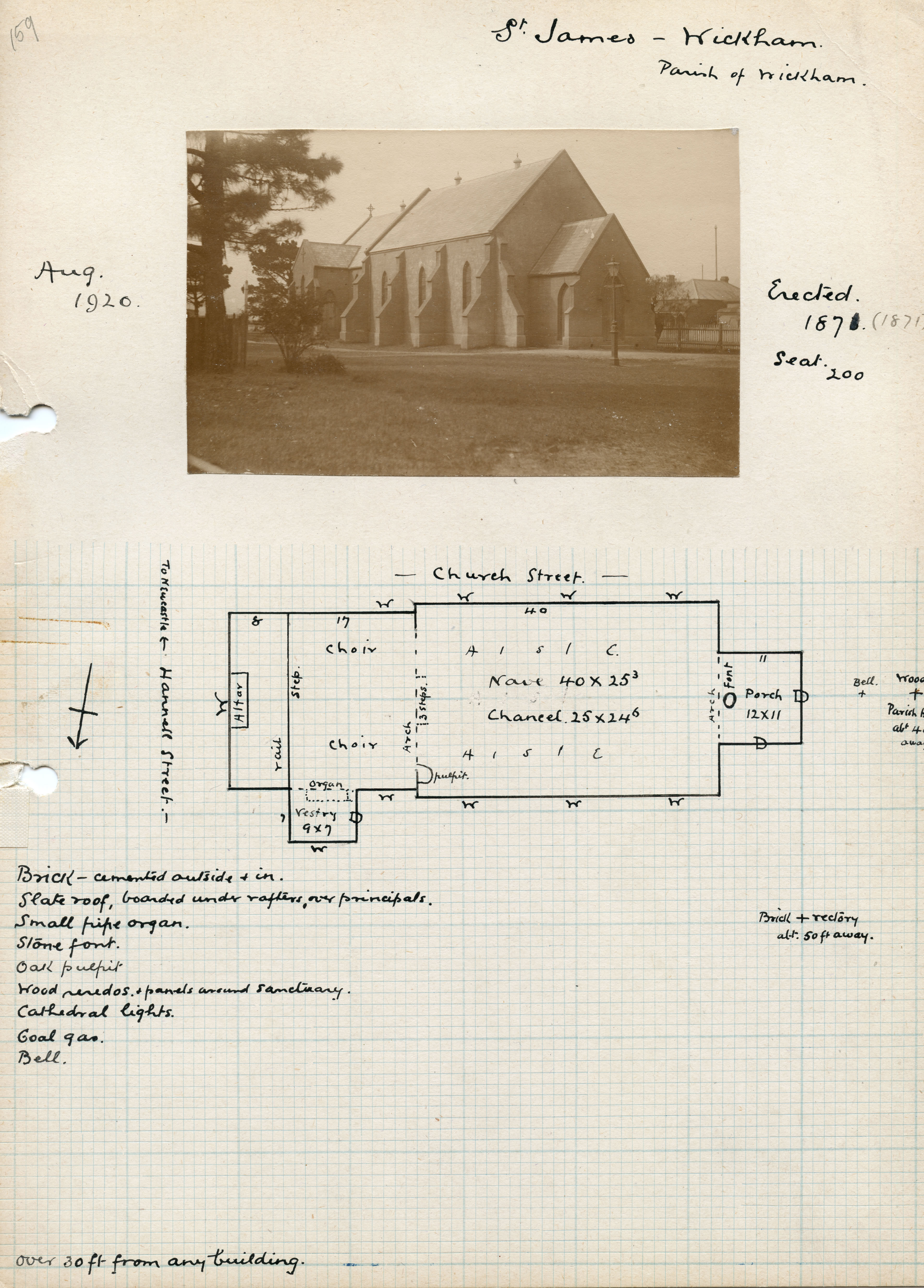 Anglican Church Floor Plan The Ancient Corroboree Ground At Wickham N S W Hunter