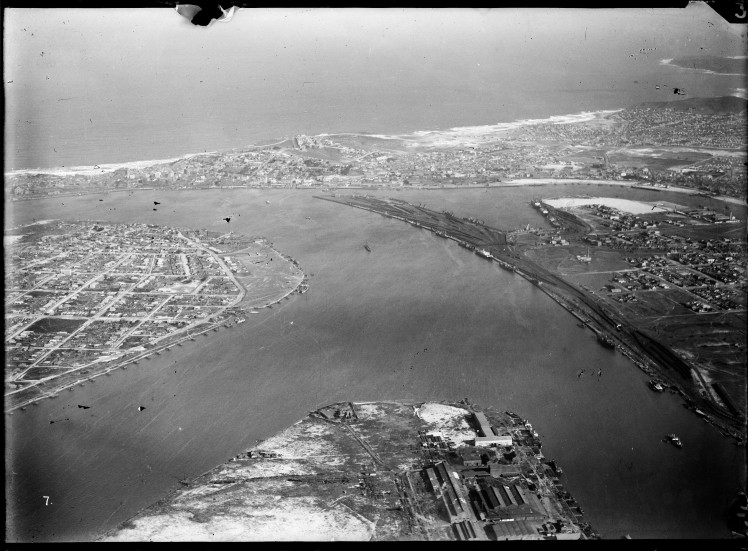 Newcastle aerial, 1930 (Image 57 Courtesy of Phillip Warren)