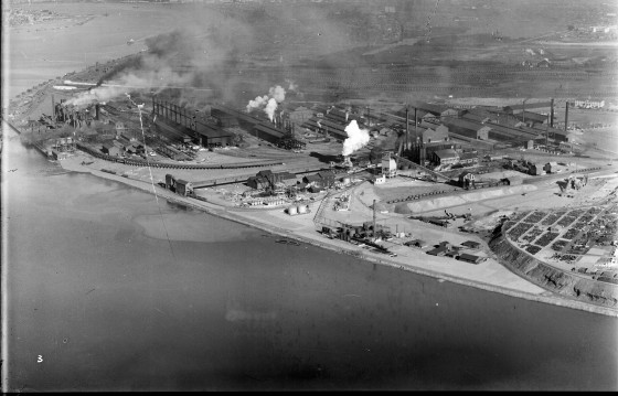 Newcastle aerial, 1935 (Image 64 Courtesy of Phillip Warren)