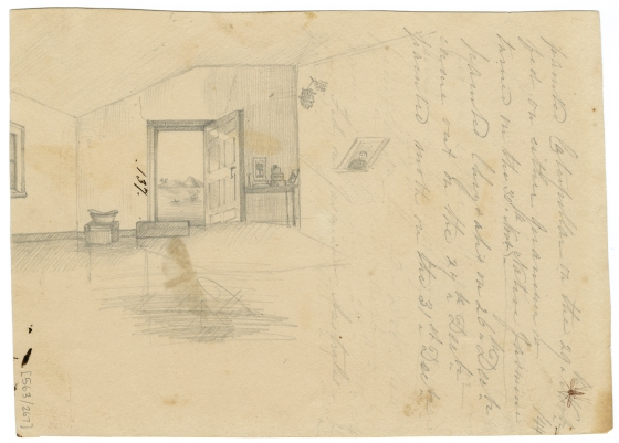 Interior of the Scott's Home, circa 1840s. (Courtesy of The Australian Museum)