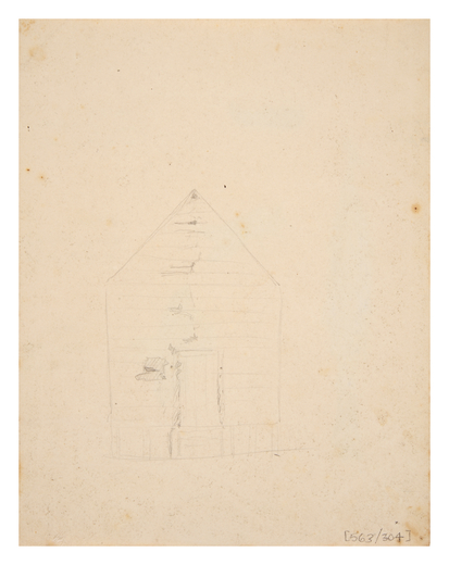 Drawing of building structure, circa 1840s (Courtesy of The Australian Museum)