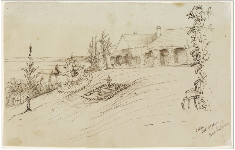 22a. Tahlee, Feb. 8th. 1840, Port Stephens. Ink. (Courtesy of State Library of NSW)
