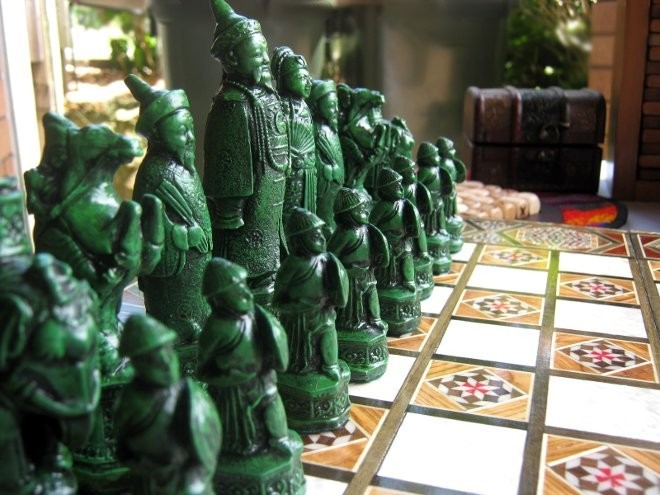 Replica Mandarin Chess Piece Set. Image Courtesy of Games From Everywhere.