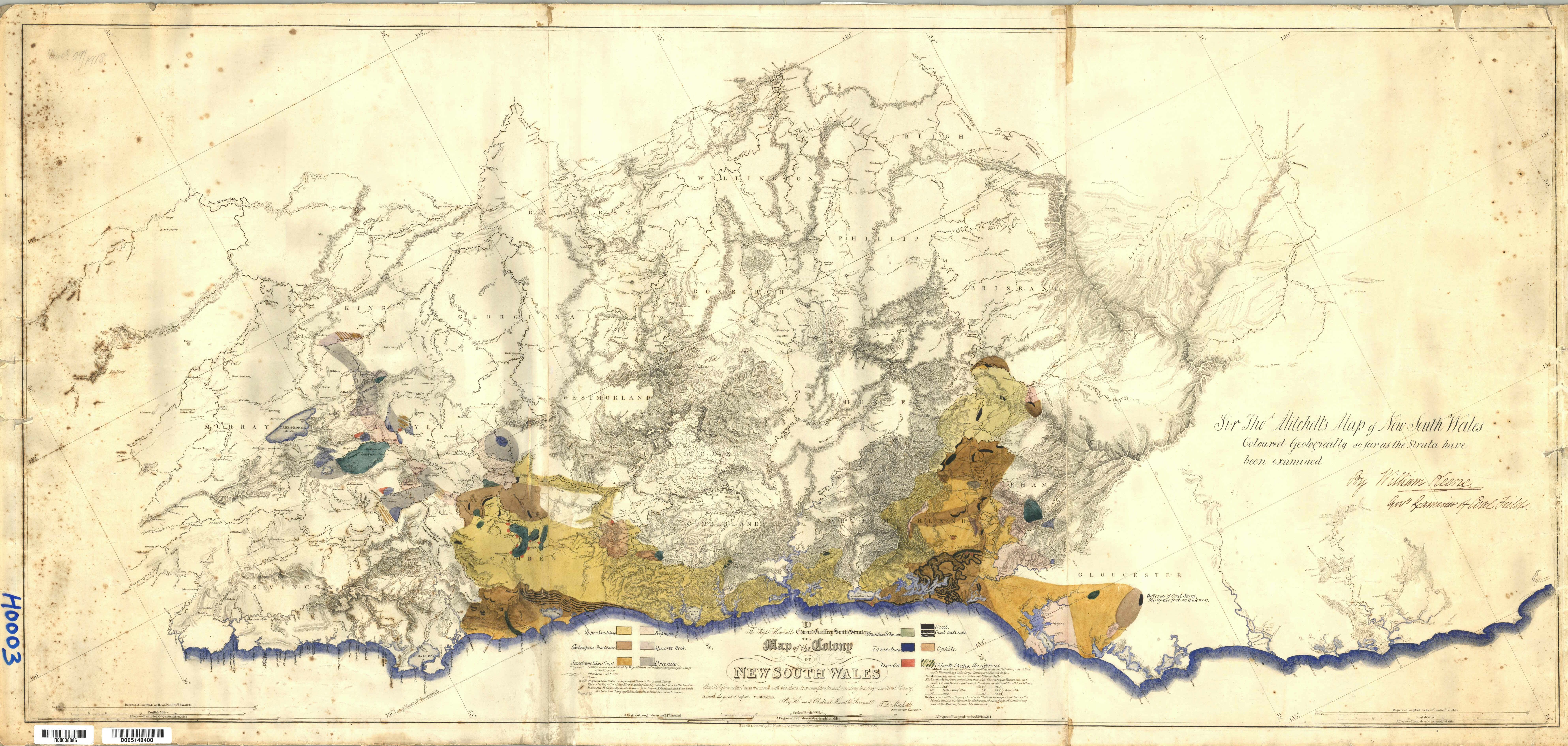 map of the colony of new south wales 1834 by tl mitchell surveyor general