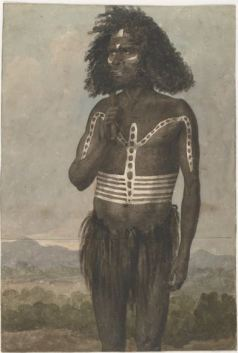 Earle, Augustus, 1793-1838. Desmond, a N.S. Wales chief painted for a karobbery [i.e. corroboree] or native dance (1826?) (National Library of Australia http://nla.gov.au/nla.pic-an2820718:August Earle, National Library of Australia )