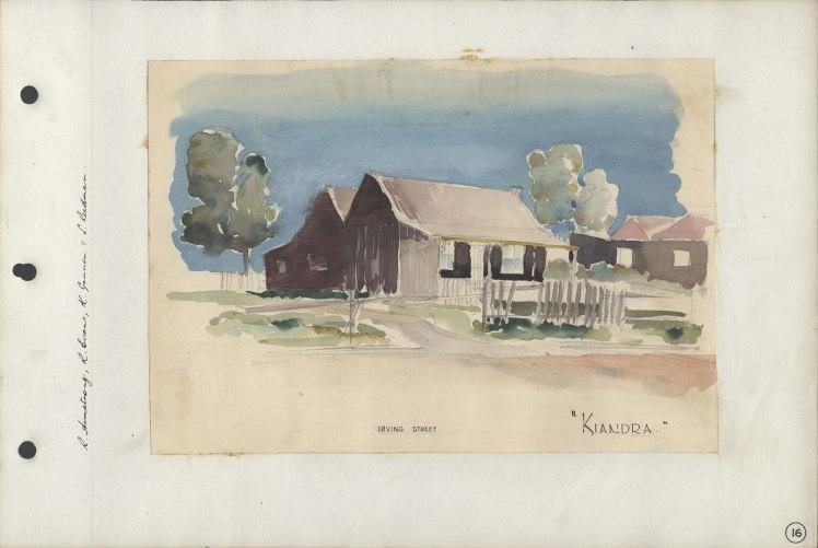 """Kiandra"" Irving Street (Watercolour)"