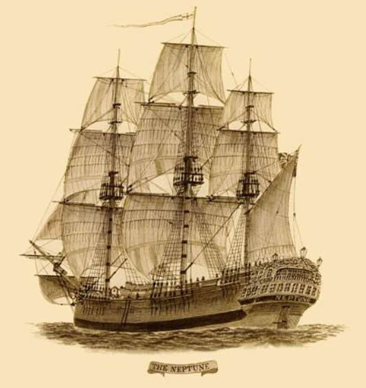 Neptune https://en.wikipedia.org/wiki/Second_Fleet_%28Australia%29#/media/File:Convict_ship_Neptune00.jpg