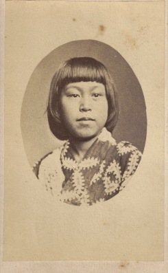 Asian Girl, photographed by [Henry] Beaufoy Merlin, American & Australasian Photographic Company, Sydney. circa 1870-1872. (Photo Credit: Digitised by Anne Glennie from the Glennie Family Albums)