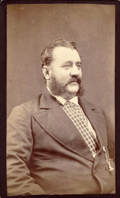 Unidentified Bearded Gentleman, photographed by Carl Liebinger, Newcastle, circa 1873-1882. (Photo Credit: Digitised by Anne Glennie from Glennie Family Albums)