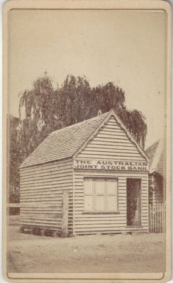 Australian Joint Stock Bank, Inverell, circa 1888 Photo Credit: Digitised by Anne Glennie from the Glennie Family Albums)
