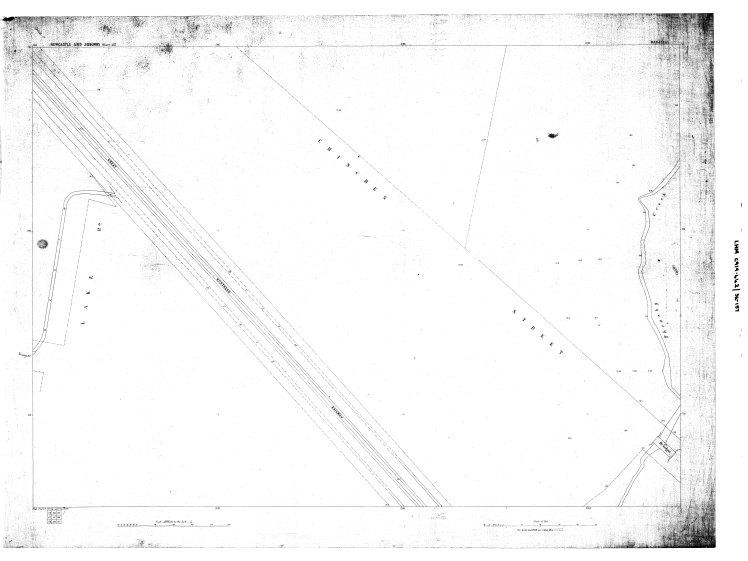 Water Board Plan (157) circa 1897 showing extent of drain along Young Street Waratah