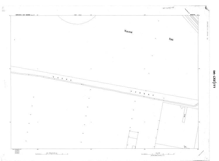 Water Board Plan (177) circa 1897 showing extent of drain along Young Street Waratah