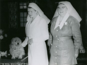 Matron Irene Slater Hall on the left