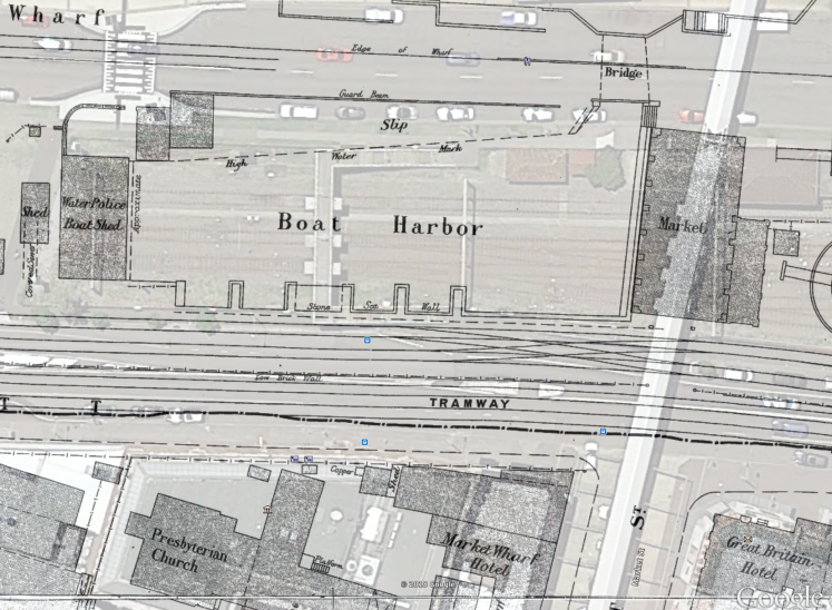 2018 Overlay with 1897 Map Closeup